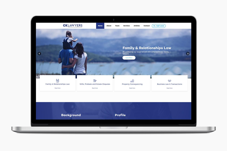 website-design-for-ck-lawyers-parramatta